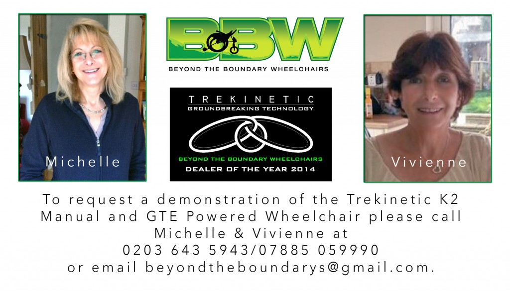 Request a demonstration of the off road electric and manual Trekinetic wheelchair by contacting us at beyondtheboundarys@gmail.com