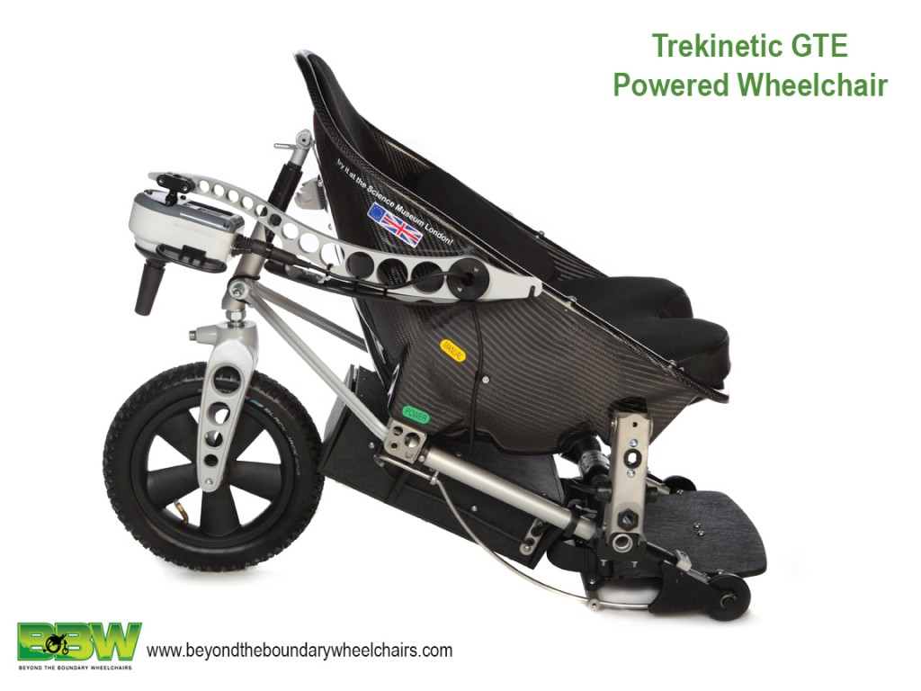 The brilliant off road GTE Trekinetic powered wheelchair is also portable and lightweight for travel.