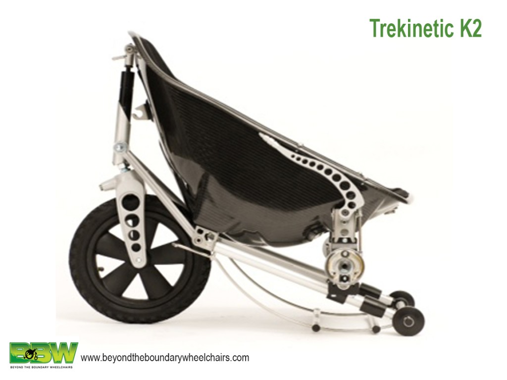 This brilliant off road K2 Trekinetic manual wheelchair is also portable and lightweight for travel.