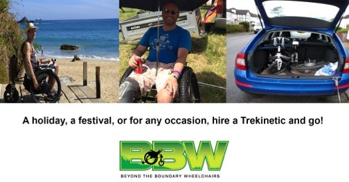 Hire a Trekinetic off road wheelchair and experience the freedom and independence to go where you want to go.
