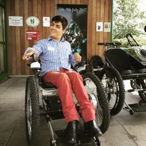 Max Stainton, a young man with Cerebral Palsy