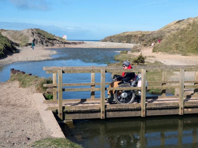 South Coast Path 3 - The Chariot crosses the narrow bridge
