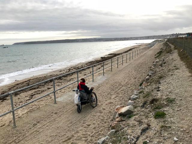 South Coast Path 5 - Taking on large-stone gravel